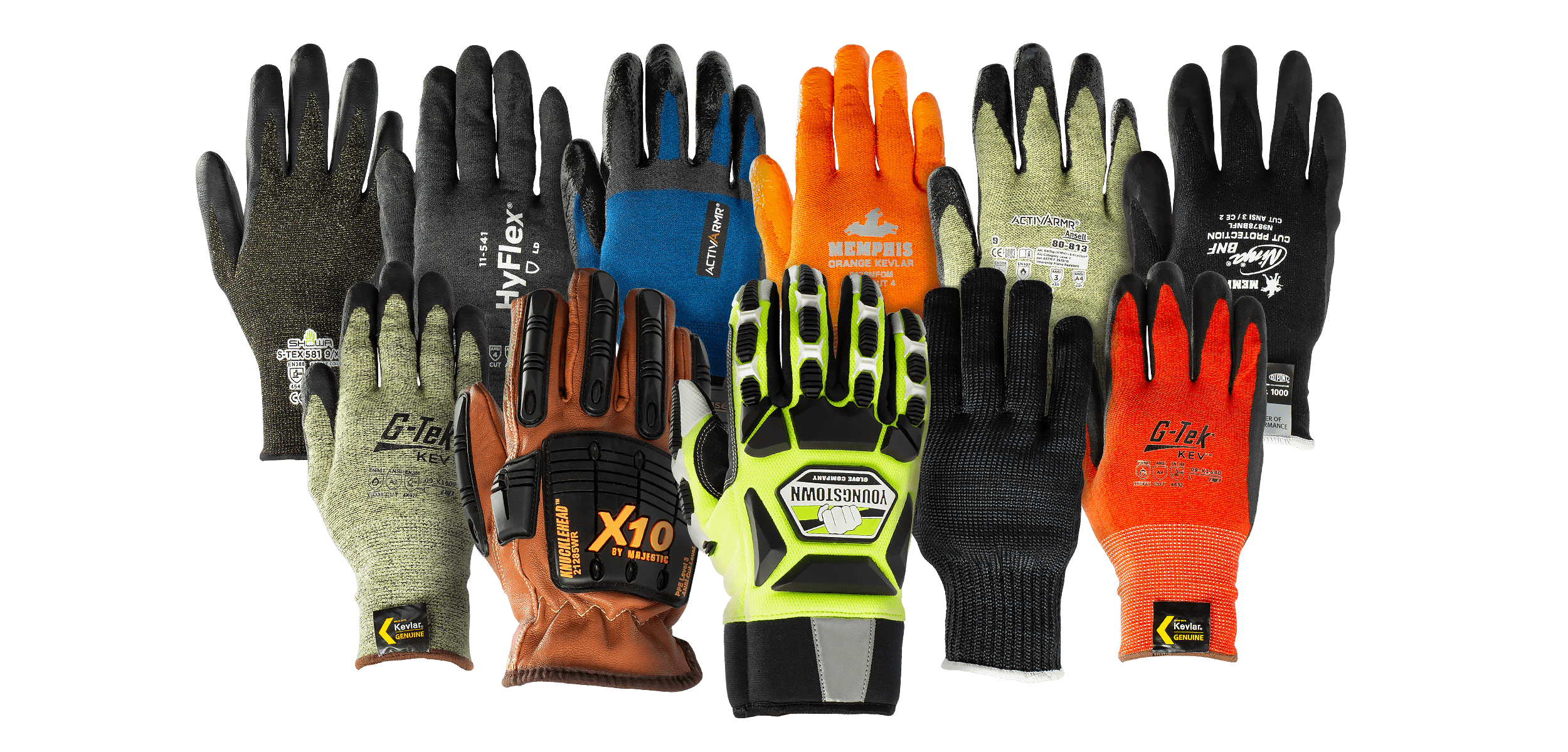 Kevlar is available in a variety of colors—giving you even more options